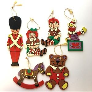 "Hand Painted Christmas Ornaments ""Toys"" Lot"